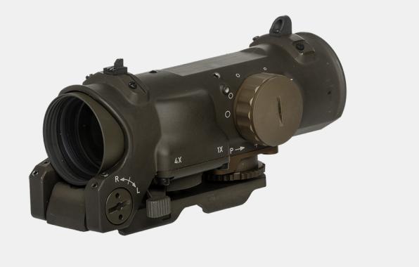 Elcan Specter DR 1x/4x FDE oder Schwarz Combat Sight 5.56 Nato inkl Back Ups, ARD und Tenebraex Flip Ups