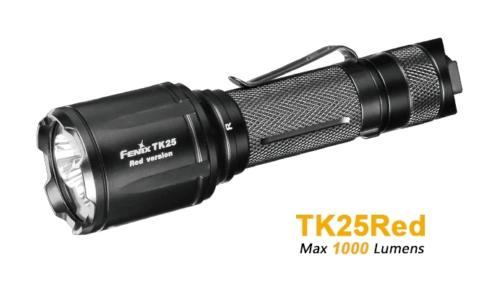 Fenix TK25 Red rote und weisse LED Taschenlampe fuer