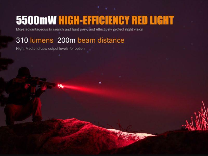 Fenix TK25 Red rote und weisse LED Taschenlampe fue 4