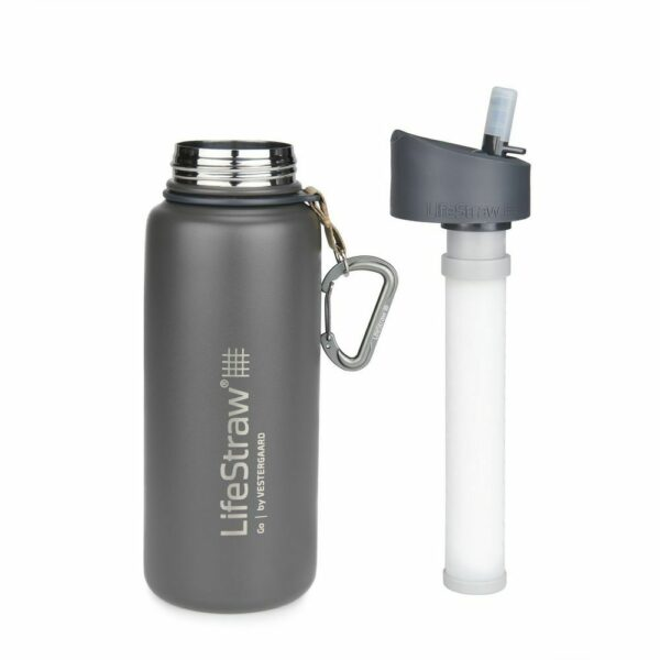 Life Straw Go stainless steel grey front2
