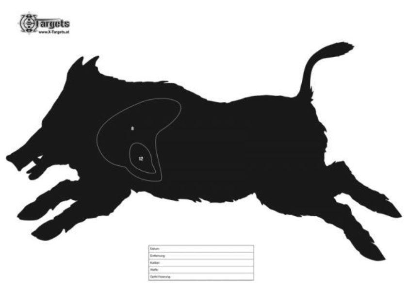 Wildschwein Zielscheibe 0