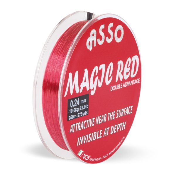 Asso magic red mono 3000m 0 35mm 11 60kg red monofile angelschnur