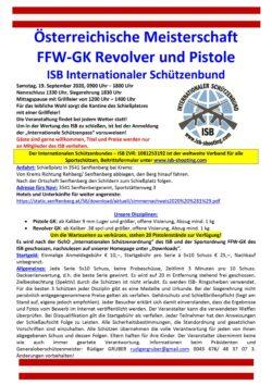 Österreichische Meisterschaft Pistole und Revolver FFW-GK