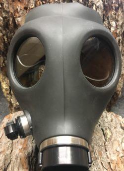 Abverkauf Israelische Mil Spec Erwachsenen Gas Maske RD40 kompatibel inklusive einem Filter, Trinkschlauch Surplus Ware originalverpackt