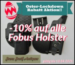 -10% auf alle Fobus Holster während des Oster-Lockdowns