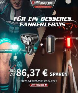 Olight RN 3500 & RN 180 TL - Fahrradtaschenlampen Bundle