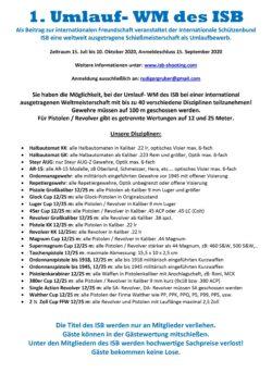 Umlauf- Schießbewerb mit 40 Disziplinen