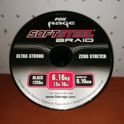 FOX Rage SoftSteel 0,10mm/6,16kg, 1250m, Schwarz