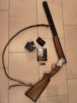 Mercury light Bockdoppelflinte samt Zubehör (Gewehrriemen, Munition VOLL (10 Stk. 12/70), Wechselchokes (1/4, 1/2, 3/4, 1/1))
