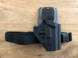 Glock Holster - T.Rex Arms Ragnarok auf Safariland UBL Midride Plattform mitT.Rex Arms Beingurt - schwarz